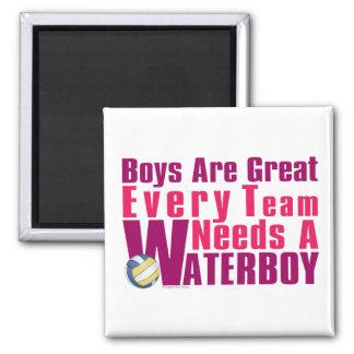 Voleibol de Waterboy en rosa Imán Cuadrado