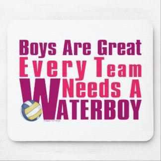 Voleibol de Waterboy en rosa Tapetes De Ratón