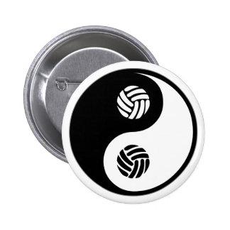 Voleibol de Yin Yang Pin Redondo De 2 Pulgadas
