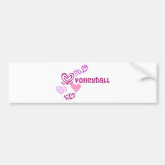 Voleibol del amor pegatina de parachoque