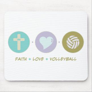 Voleibol del amor de la fe alfombrillas de raton