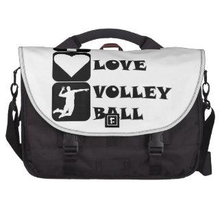 Voleibol del amor de la paz bolsas para ordenador