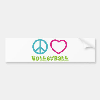 Voleibol del amor de la paz pegatina de parachoque