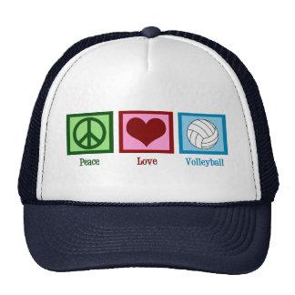 Voleibol del amor de la paz gorras