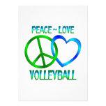 VOLEIBOL del amor de la paz Invitación Personalizada