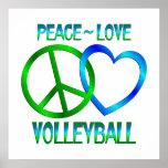 VOLEIBOL del amor de la paz Poster