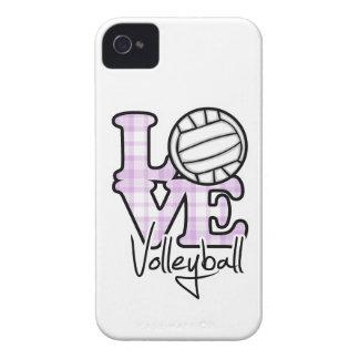 Voleibol del amor Case-Mate iPhone 4 fundas