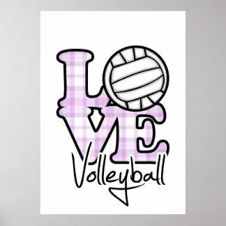 Voleibol del amor impresiones