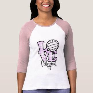 Voleibol del amor camisetas