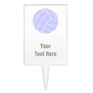 Voleibol del azul de la lavanda figuras para tartas