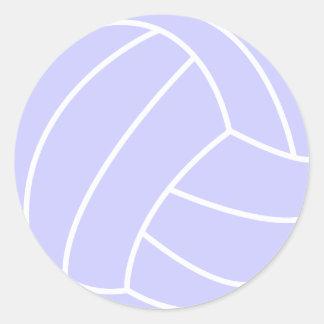 Voleibol del azul de la lavanda pegatina redonda