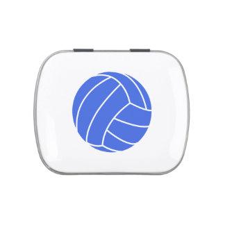 Voleibol del azul real y del blanco frascos de caramelos