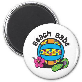 Voleibol del bebé de la playa imán