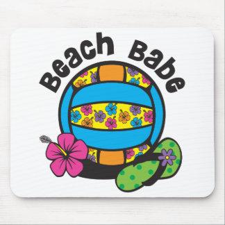 Voleibol del bebé de la playa alfombrillas de ratón
