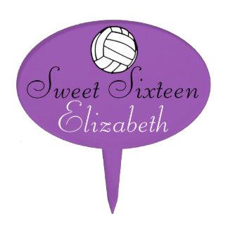 Voleibol del dulce dieciséis decoraciones para tartas