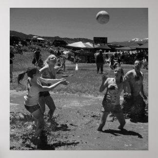 Voleibol del fango, cuarto de julio, Bridgeport Posters