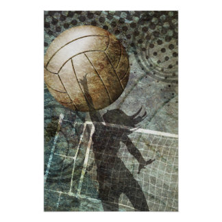 Voleibol del Grunge Póster