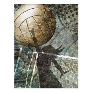 Voleibol del Grunge Tarjeta Postal