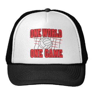Voleibol del juego del mundo uno gorro