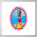 Voleibol del juego poster