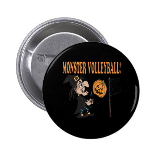 Voleibol del monstruo pin