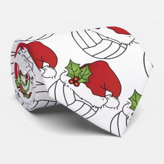Voleibol del navidad corbata personalizada