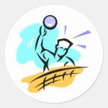 Voleibol del punto pegatina