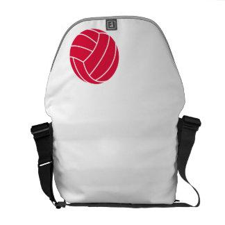 Voleibol del rojo carmesí bolsa de mensajería