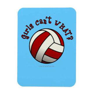 Voleibol del rojo de los chicas imán