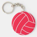 Voleibol del rojo del escarlata llavero
