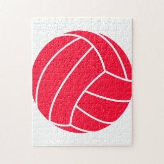 Voleibol del rojo del escarlata puzzle con fotos