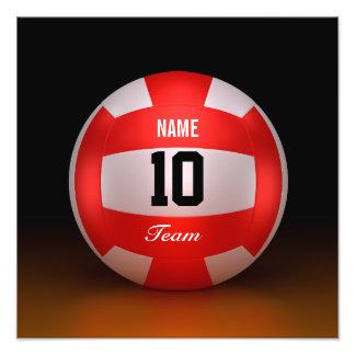 Voleibol del rojo del personalizar fotografía