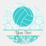 Voleibol del trullo pegatina redonda