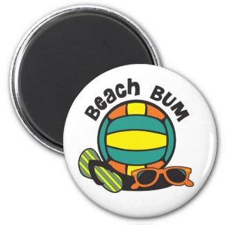 Voleibol del vago de la playa imán redondo 5 cm