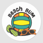 Voleibol del vago de la playa pegatinas redondas