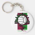 Voleibol del vintage llaveros