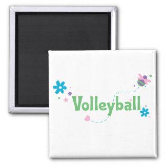 Voleibol del zumbido del jardín imán de frigorifico
