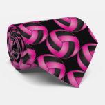 Voleibol deportivo de las rosas fuertes corbatas personalizadas