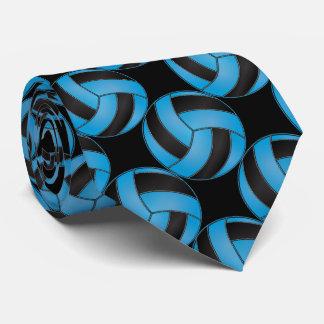Voleibol deportivo de los azules cielos y del corbata