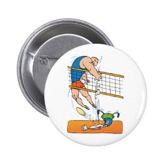 Voleibol divertido pin redondo 5 cm