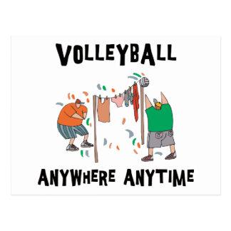 Voleibol dondequiera en cualquier momento tarjeta postal