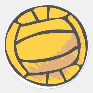 Voleibol en estilo a mano etiquetas redondas