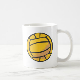 Voleibol en estilo a mano taza básica blanca