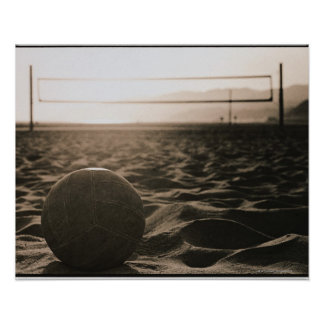 Voleibol en la arena póster