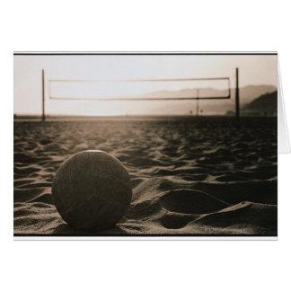 Voleibol en la arena felicitacion