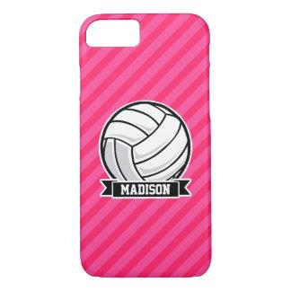 Voleibol en las rayas rosadas de neón funda iPhone 7