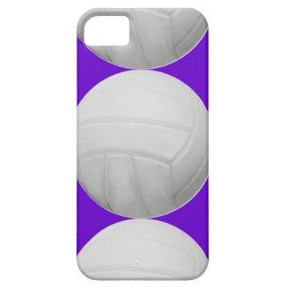 Voleibol en púrpura funda para iPhone 5 barely there