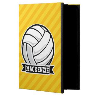 Voleibol en rayas amarillas