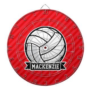 Voleibol en rayas diagonales rojas
