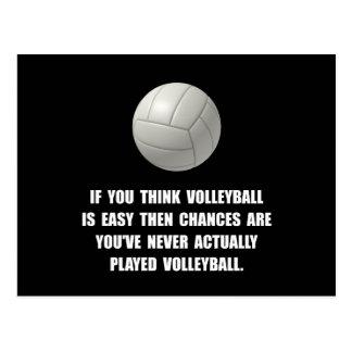 Voleibol fácil postal